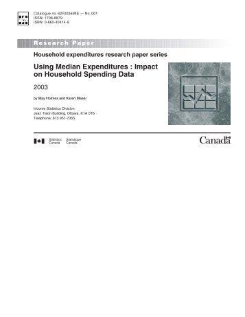 Using Median Expenditures : Impact on Household Spending Data