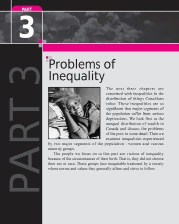 Problems of Inequality