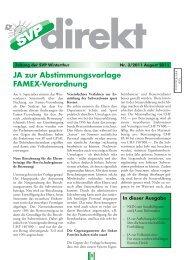JA zur Abstimmungsvorlage FAMEX-Verordnung - SVP Winterthur
