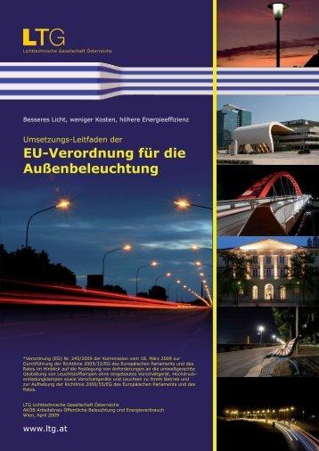 EU-Verordnung für die Außenbeleuchtung