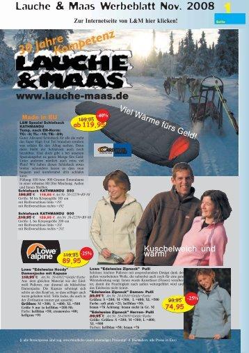 1 Lauche & Maas Werbeblatt Nov. 2008