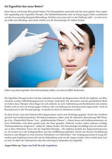 Ist Eigenblut das neue Botox? - Dr. Zenker Dermatologie