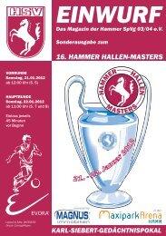 16. Hammer Hallen-Masters - Zur HSV-Homepage