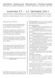 Auktion 57 - 21. Oktober 2011 - Thomas Gradl