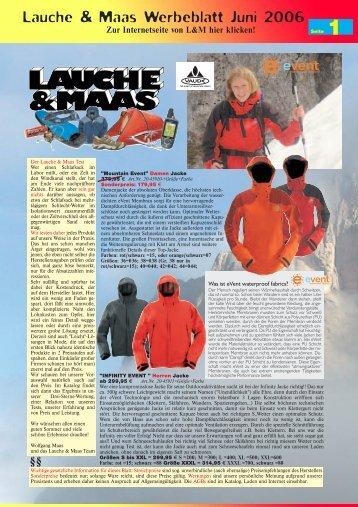1 Lauche & Maas Werbeblatt Juni 2006
