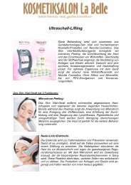 Ultraschall-Lifting - Kosmetiksalon-La Belle