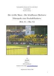 226 Die Schaffhauser Bierkurve - Fanarbeit Schweiz