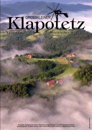 Klapotetz - 28. Jahrgang - Juli 2009 - Nr. 2 (pdf - Marktgemeinde ...
