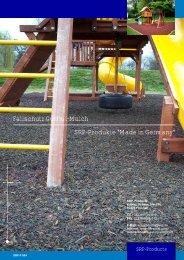 "Fallschutz Gummi-Mulch SRP-Produkte ""Made in Germany"""