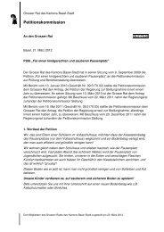 Petitionskommission - Grosser Rat - Basel-Stadt