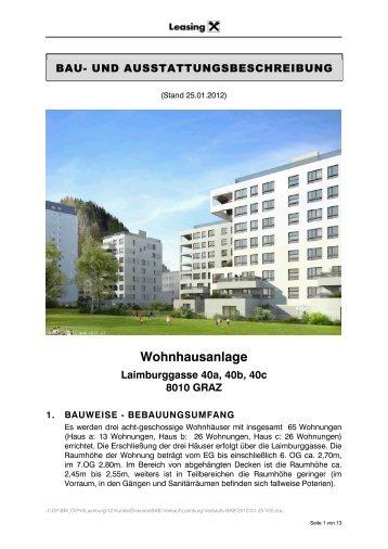 Wohnhausanlage Laimburggasse 40a, 40b, 40c 8010 GRAZ