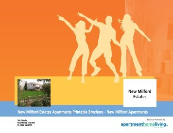 New Milford Estates Apartments Printable Brochure - Apartments For ...