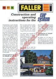 Faller Car System Overview Information Sheet (pdf) - Toottoot