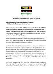 Pressemitteilung der Gebr. FALLER GmbH - IPMS Deutschland