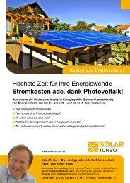 Stromkosten ade, dank Photovoltaik! - Photovoltaik aus einer Hand