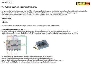 art. nr. 161522 car system basis-set »funktionselemente - Faller
