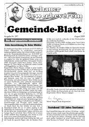 Gemeinde-Blatt - Gewerbeverein Aschau