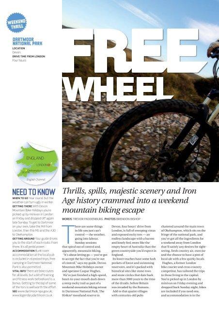 NEED TO KNOW - Devon Mountain Bike Holidays