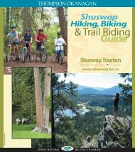 Guide Hiking,Biking - Shuswap Tourism