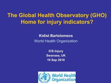 Global Health Observatory (GHO) - Centers for Disease Control and ...
