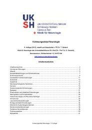Skript - Klinik für Neurologie - Kiel