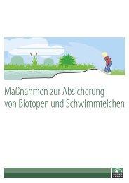 Absicherung von Biotopen und Schwimmteichen - Initiative Sichere ...
