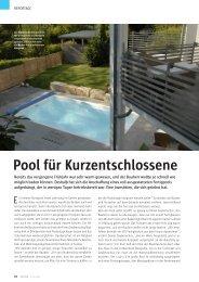 Pool für Kurzentschlossene - Topras