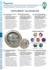 INTELLIBRITE® 5g COLOR LED - Pentair Pool Europe