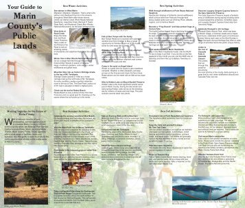 Your Guide to Marin County's Public Lands - Marin Municipal Water ...