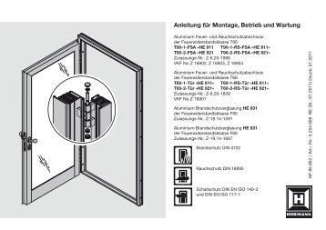 Anleitung für Montage, Betrieb und Wartung - Hörmann