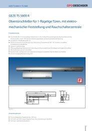 GEZE TS 5000 R Obentürschließer für 1-flügelige Türen, mit elektro ...