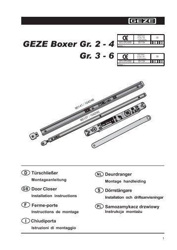 GEZE Boxer Gr. 2 - 4 Gr. 3