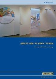 GEZE TS 1500 / TS 2000 V / TS 4000 - Innentuershop24.de