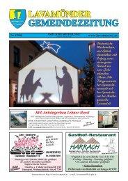 lavamnder gemeindezeitung - Marktgemeinde Lavamnd