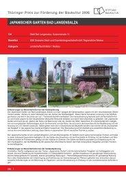 Thüringer Preis zur Förderung der Baukultur 2006 - Stiftung ...
