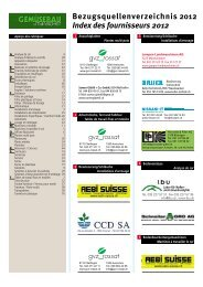 Bezugsquellenverzeichnis 2012 Index des fournisseurs 2012