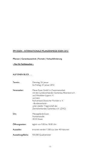 IPM ESSEN - INTERNATIONALE PFLANZENMESSE ESSEN 2012 ...