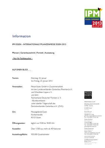 IPM ESSEN - INTERNATIONALE PFLANZENMESSE ESSEN 2013 ...