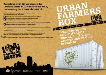 3. 7. am General Guisan Quai in Zürich! - UrbanFarmers Box