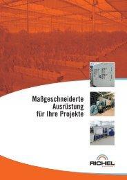 Downloaden Sie unsere Broschüre Richel Equipment