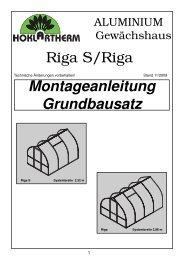 Riga S/Riga Montageanleitung Grundbausatz - Exaco