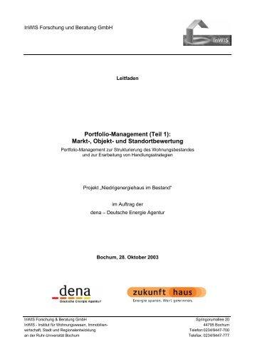 Portfolio-Management (Teil 1): Markt-, Objekt- und ... - Zukunft Haus