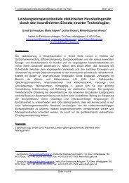 Leistungseinsparpotentiale elektrischer Haushaltsgeräte ... - EEG
