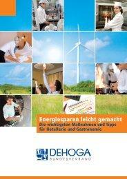 Nachhaltigkeit neu erfunden Betriebskosten senken - DEHOGA ...