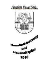 Schlüsselzuweisungen - Gemeinde Winsen (Aller)