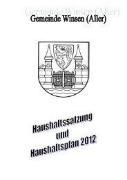 für das Haushaltsjahr 2012 - Gemeinde Winsen (Aller)