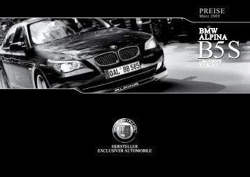 BMW ALPINA PREISE BMW ALPINA