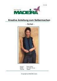 Kreative Anleitung zum Selbermachen - Schal - - Madeira