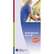 Rückengesund – Fit im OP - Gesundheitsdienstportal