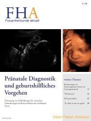 Pränatale Diagnostik und geburtshilfliches Vorgehen